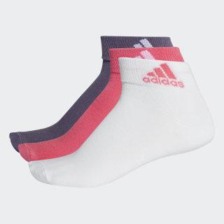 Performance İnce Bilek Boy 3 Çift Çorap Real Pink / White / Trace Purple CF7369