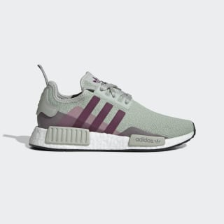 NMD_R1 Shoes Ash Silver / Purple Beauty / Shock Pink EE5177