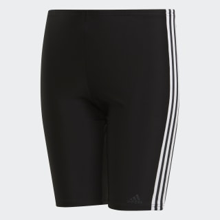 3-Stripes Swim Lange Zwembroek Black / White DP7550