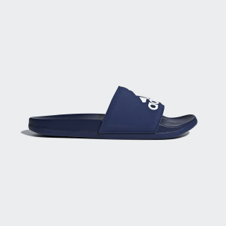 Adilette Cloudfoam Plus Logo Slipper Dark Blue / Ftwr White / Dark Blue B44870