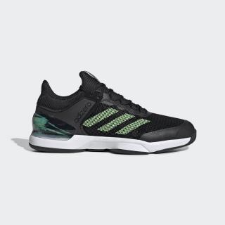 adizero Ubersonic 2.0 Schuh Core Black / Glow Green / Flash Orange EG2596