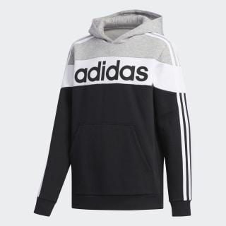 Linear Hoodie Black / White / Medium Grey Heather FM0772