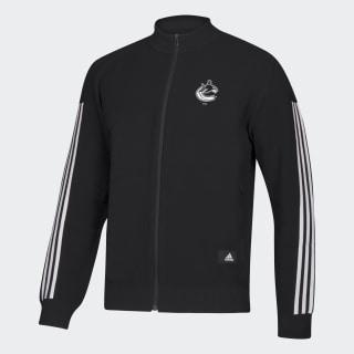 Canucks ID Knit Track Jacket Nhl-Vca-51c / Black / White EK3361