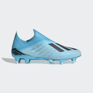 Bota de fútbol X 19+ césped natural húmedo Bright Cyan / Core Black / Shock Pink F35319