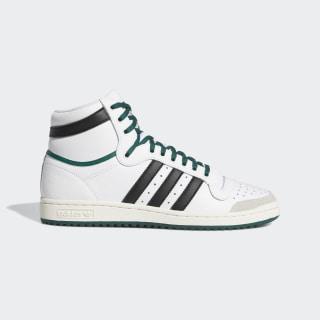 Sapatos Top Ten Hi Cloud White / Core Black / Collegiate Green EF6364