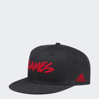 Flames Graphic Snapback Hat Multi / Black FH8254