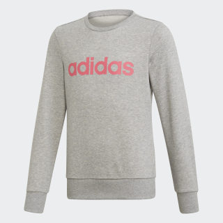 Джемпер для фитнеса Linear Trefoil medium grey heather / real pink s18 EH6156