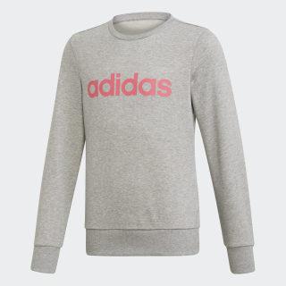 Linear Sweatshirt Medium Grey Heather / Real Pink EH6156