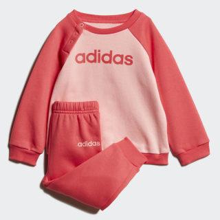 Linear Fleece joggingsæt Glory Pink / Core Pink FM6574