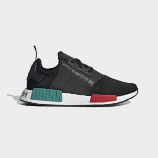 NMD_R1 Shoes Core Black / Glory Green / Lush Red EF4260