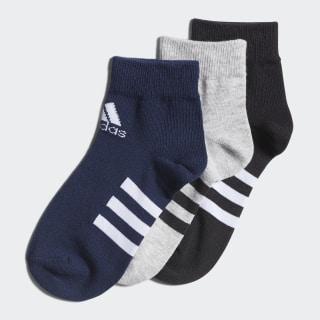 Три пары носков Ankle Medium Grey Heather / Black / Collegiate Navy FM2336