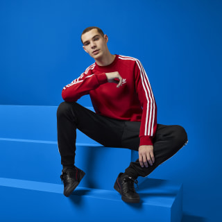 3-Stripes Crewneck Sweatshirt Power Red DV1553