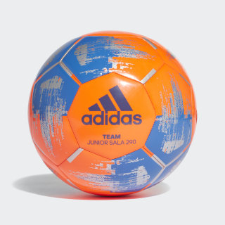 Piłka do gry na hali Team Junior 290 Solar Orange / Blue / Silver Metallic CZ9572