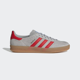 Gazelle Indoor Shoes Grey Two / Active Red / Bluebird G27500
