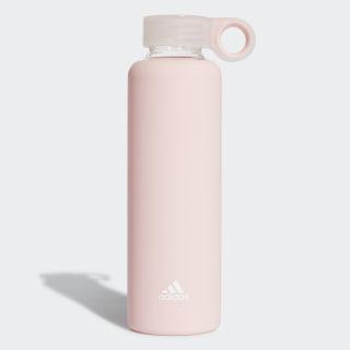 Botella de agua de vidrio Clear Orange / White CL5145