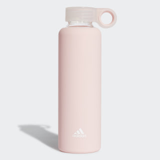 Glass Water Bottle Clear Orange / White CL5145