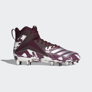 Freak X Carbon Mid Camo Cleats Maroon / Silver Metallic / Cloud White B37334