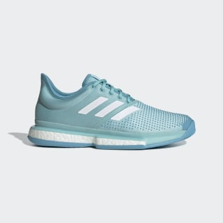Кроссовки для тенниса SoleCourt Boost Parley blue spirit / ftwr white / vapour blue CG6339