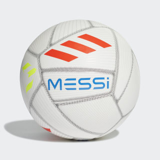 Balón Messi Capitano White / Crystal White / Football Blue / Solar Red DY2467
