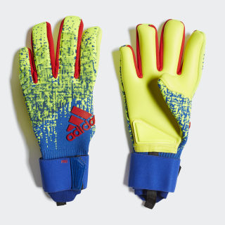 Predator Pro Goalkeeper Gloves Solar Yellow / Bold Blue / Active Red DN8581