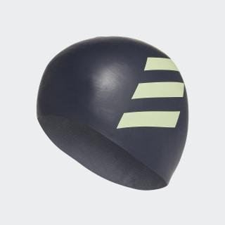 3-Stripes Silicone Swim Cap Legend Ink / Hi-Res Yellow FJ4976