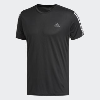 Running 3-Stripes Tee Black / White DM1665
