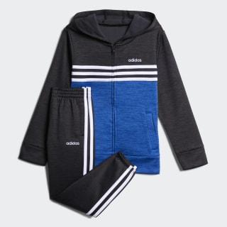 Mélange Hooded Jacket Set Black Blue Met. CM5368