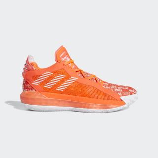 Sapatos Dame 6 Solar Red / Cloud White / Solar Red FU6808