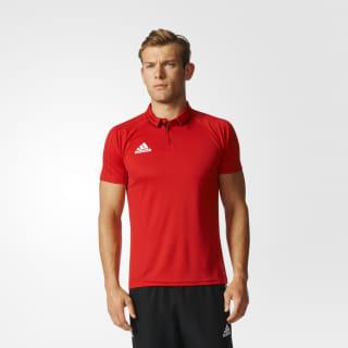 Polo Tiro 17 para Fútbol Adidas SCARLET/BLACK/WHITE BQ2623