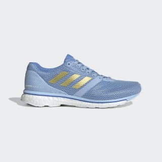 Adizero Adios 4 Shoes Glow Blue / Gold Metallic / Real Blue EF1458