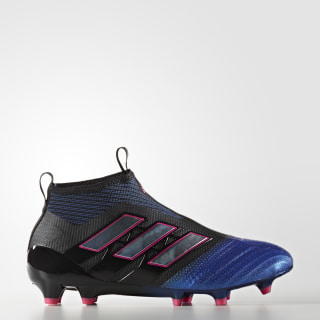 Enfants ACE 17+ PURECONTROL Firm Ground Boots Core Black/Footwear White/Blue BA9819