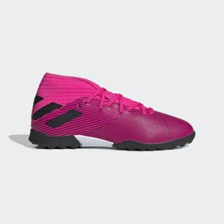 Chuteira Nemeziz 19 3 Society Jr shock pink/core black/shock pink F99944