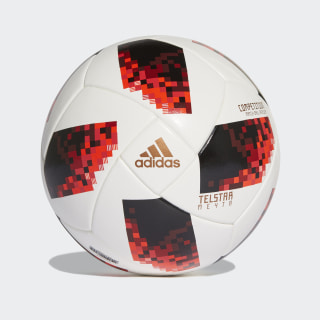 Ballon de match FIFA World Cup Knockout White / Solar Red / Black CW4681