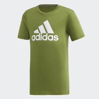 Tričko Must Haves Badge of Sport Tech Olive / White ED6470