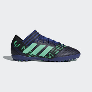 Zapatos de Fútbol Nemeziz Messi Tango 17.3 Césped Artificial GREY/HI-RES GREEN S18/CORE BLACK CP9109