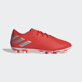 Zapatos de Fútbol Nemeziz 19.4 Multiterreno Active Red / Silver Metallic / Solar Red F34393