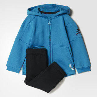 Conjunto Mini Me Real Madrid Jogger VIVID TEAL S13/BLACK /GREY FIVE F17/BLACK/VIVID TEAL S13/WHITE CE9802