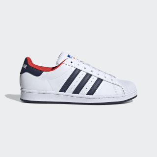Superstar Schuh Cloud White / Collegiate Navy / Red FV8270