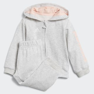 Linear Hooded Jogger Light Grey Heather / Haze Coral / White DJ1583