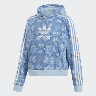 Culture Clash Cropped Hoodie Blue / Clear Sky / White DV2363