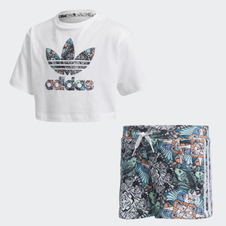 Zoo Shorts and Tee Set White / Multicolor DH2232