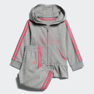 French Terry Hoodie Set Grey CM0191