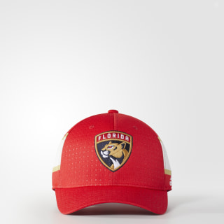Panthers Structured Flex Draft Hat Red BZ8731
