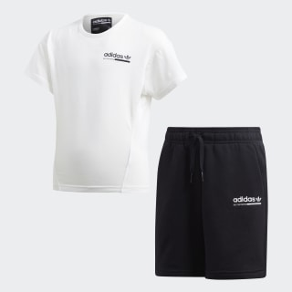 Conjunto camiseta y pantalón corto Kaval Cloud White / Black DV2349