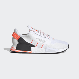 NMD_R1 V2 Shoes Cloud White / Cloud White / Solar Red FW6410