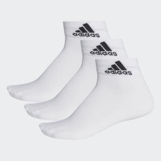 Meia Ankle Mid Thin - 3 Pares White / White / Black AA2320