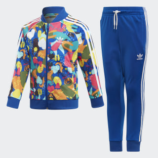 Sudadera SUPERSTAR SET Top:MULTICOLOR/white Bottom:COLLEGIATE ROYAL/WHITE ED7777