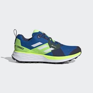 Terrex Two GORE-TEX Trail Running Shoes Glory Blue / Cloud White / Signal Green EH1834