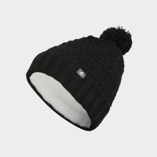 Bonnet Fleece Lined Pompom Black DZ6601