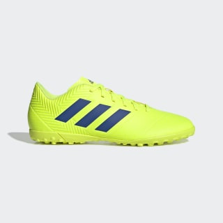 Zapatos de Fútbol Nemeziz Tango 18.4 Césped Artificial solar yellow / football blue / active red BB9473